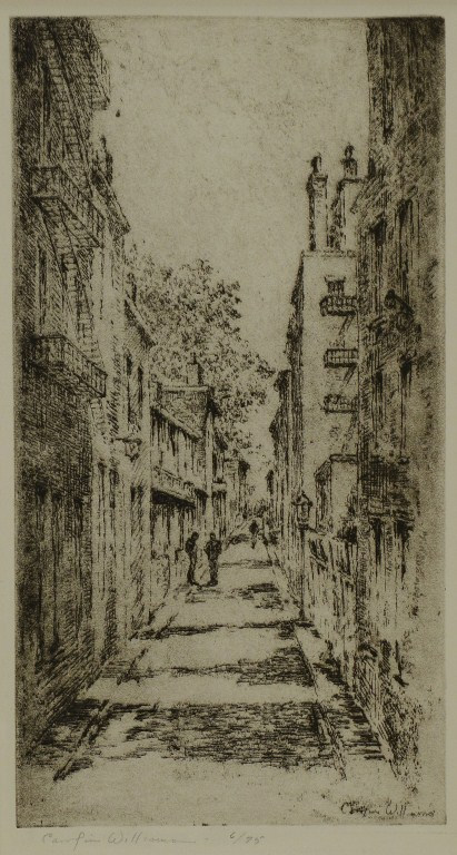 Lot 3088265: 2 Cincinnati Etchings by E. Hurley & Williamson