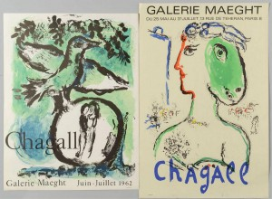 Lot 3088266: 2 Marc Chagall Galerie Maeght lithograph posters