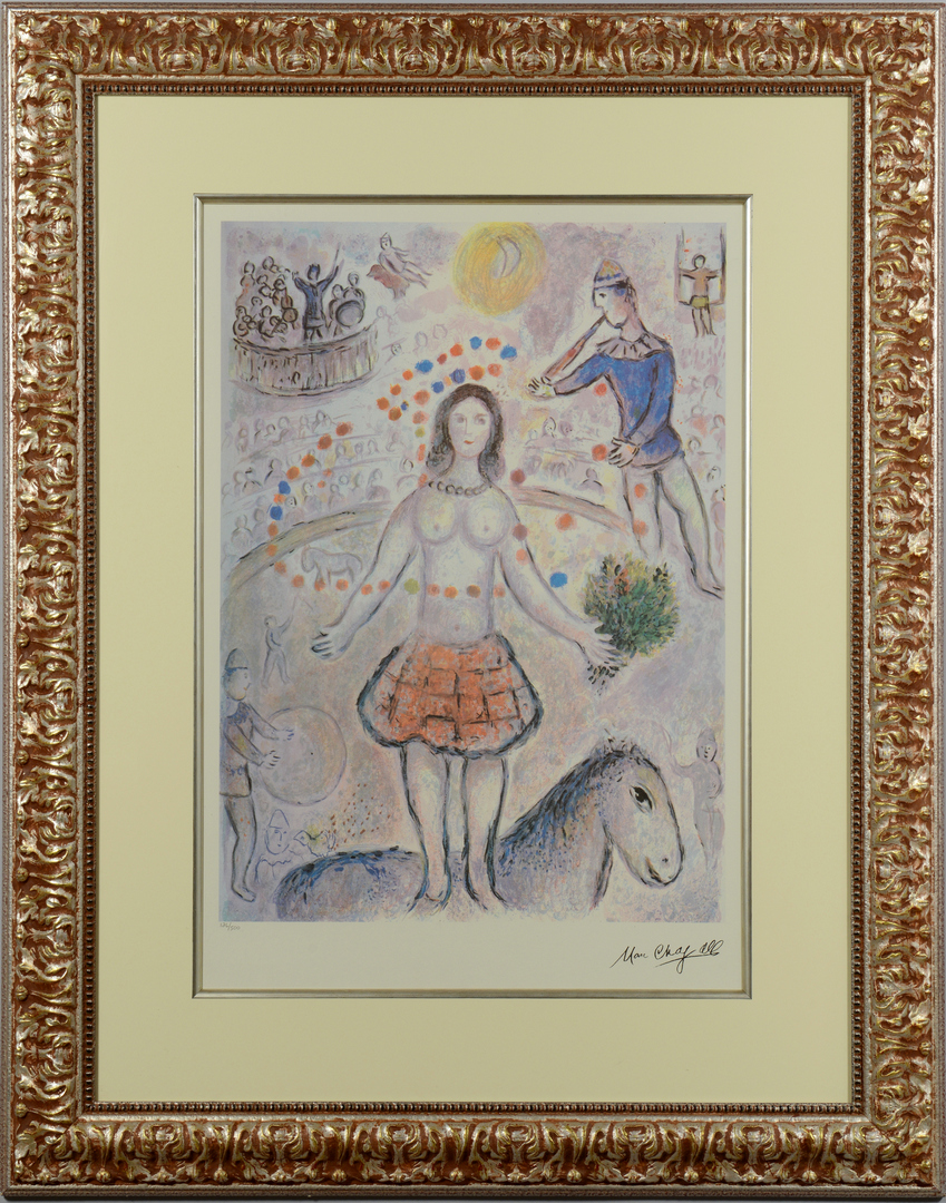 Lot 3088267: Marc Chagall framed Circus print
