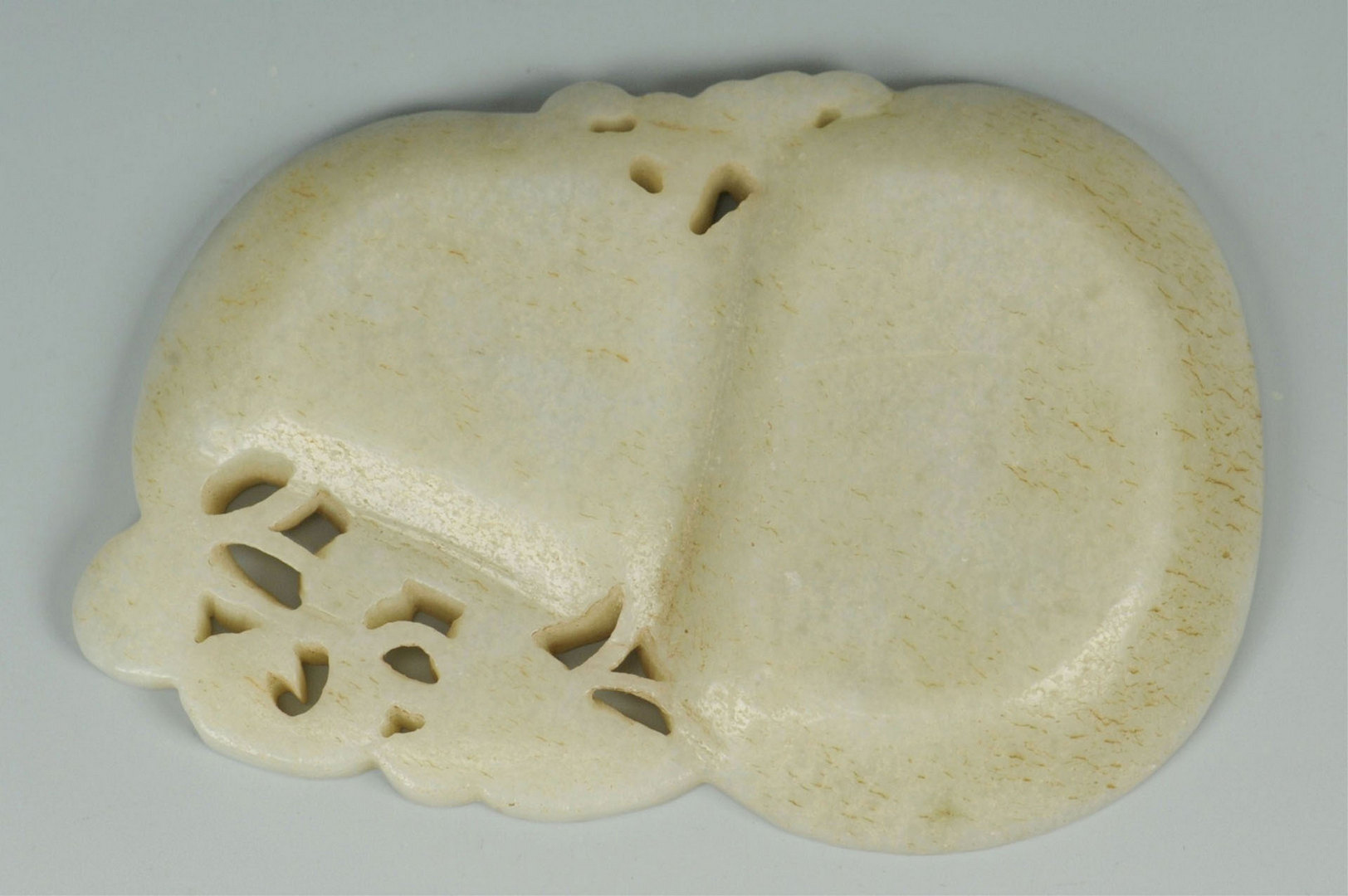 Lot 3088270: 2 Chinese Carved Jade Items – Figural & Inkstone