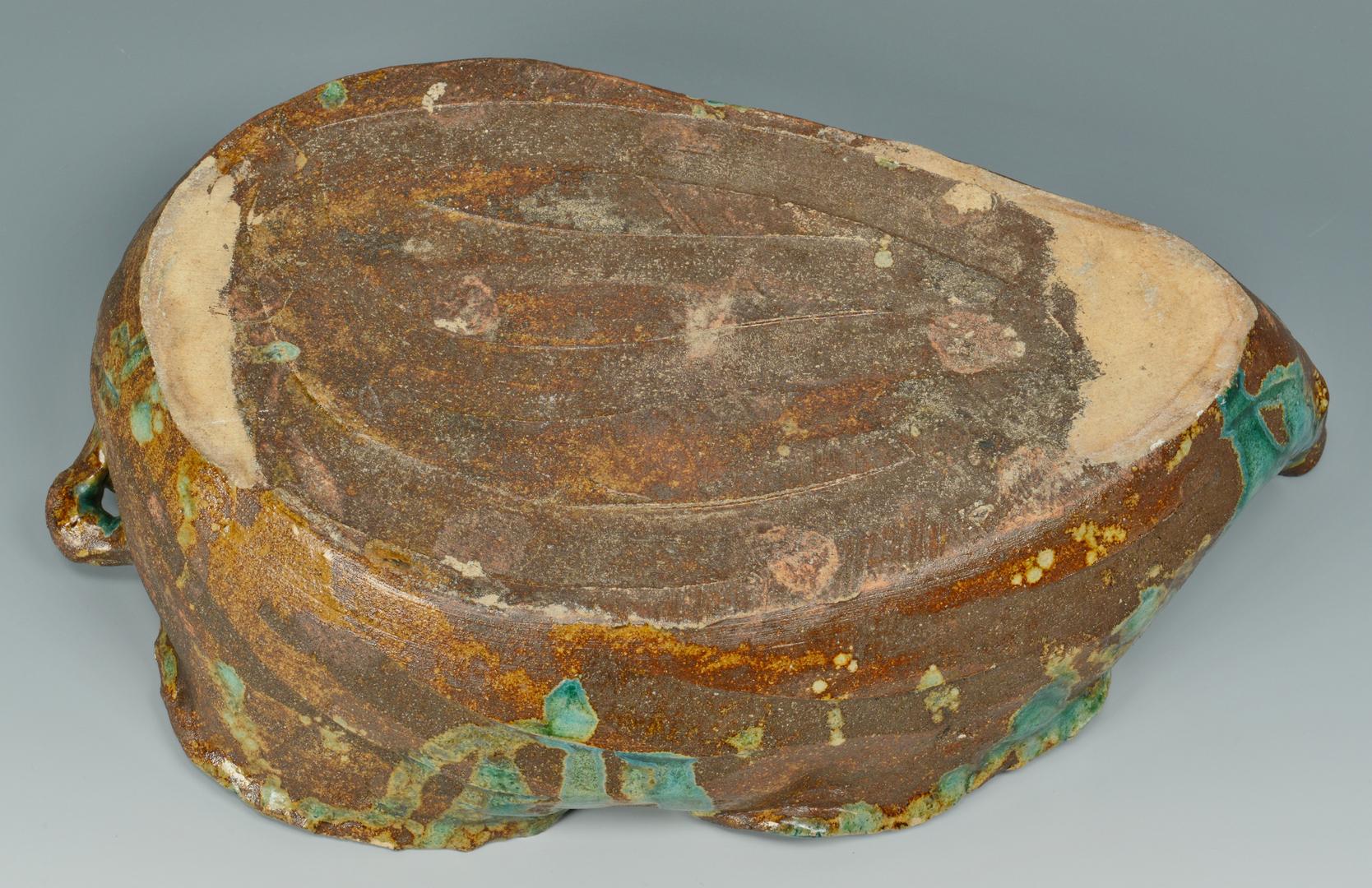 Lot 3088272: Japanese Studio Pottery Leaf-Form Bowl
