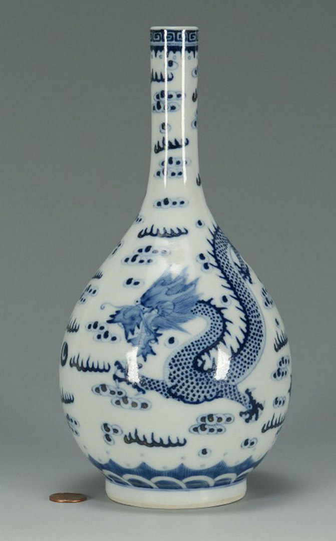 Lot 3088278: Chinese Porcelain Blue & White Bottle Vase