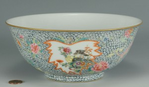 Lot 3088280: Chinese Famille Rose Bowl w/ millefleur ground