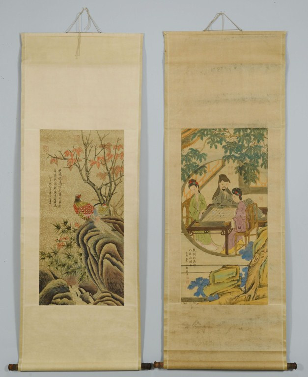 Lot 3088288: 2 Chinese Scroll Paintings