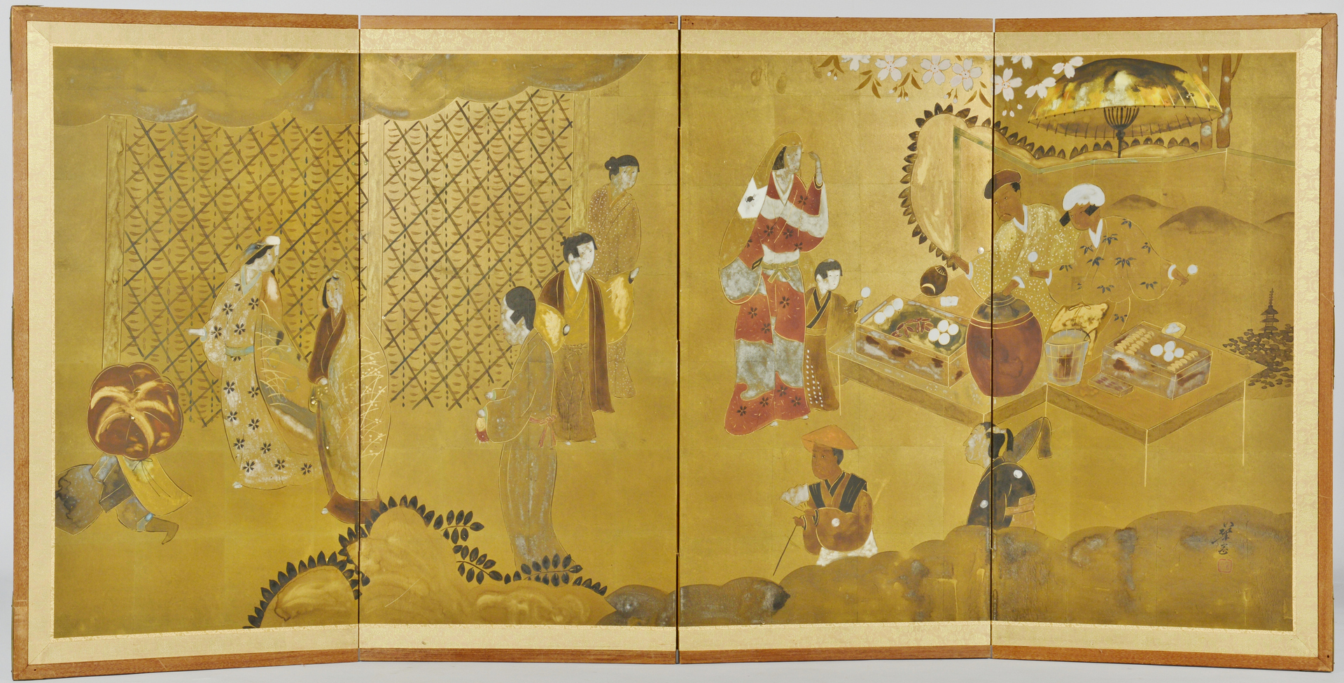Lot 3088292: Japanese 4 Panel Table Screen