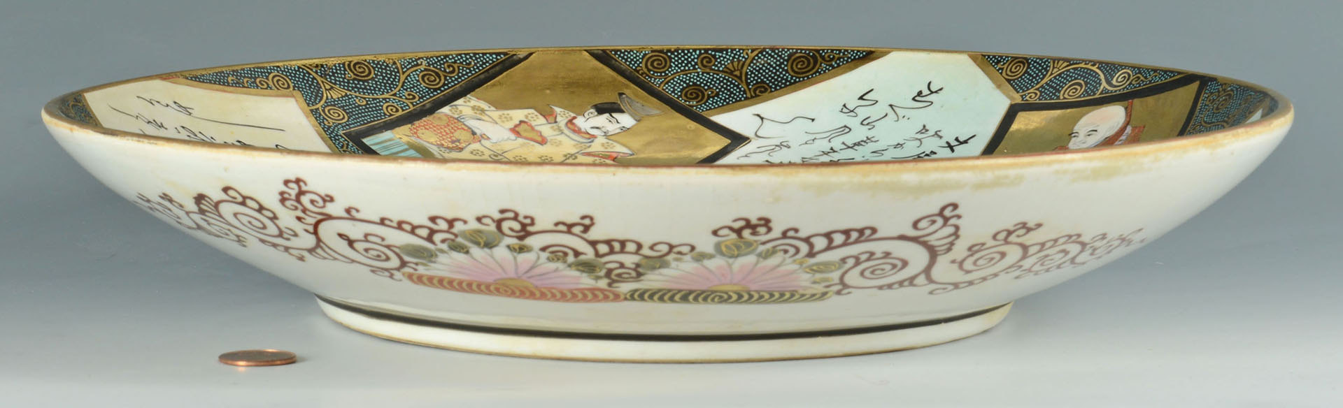 Lot 3088295: Signed Japanese Porcelain Kutani Charger