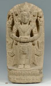 Lot 3088301: Carved Hindu or Balinese Buddha