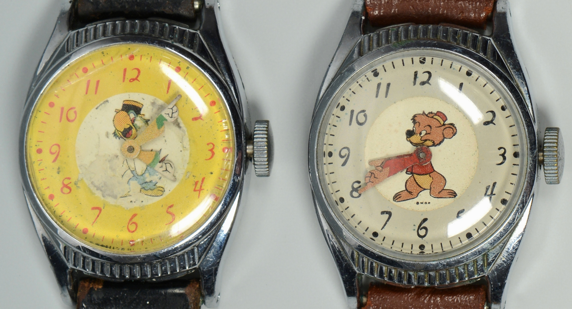 Lot 3088312: 6 Vintage Walt Disney Character Watches
