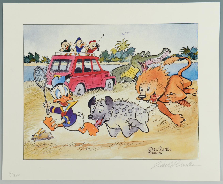 Lot 3088313: Carl Barks Walt Disney Signed Litho