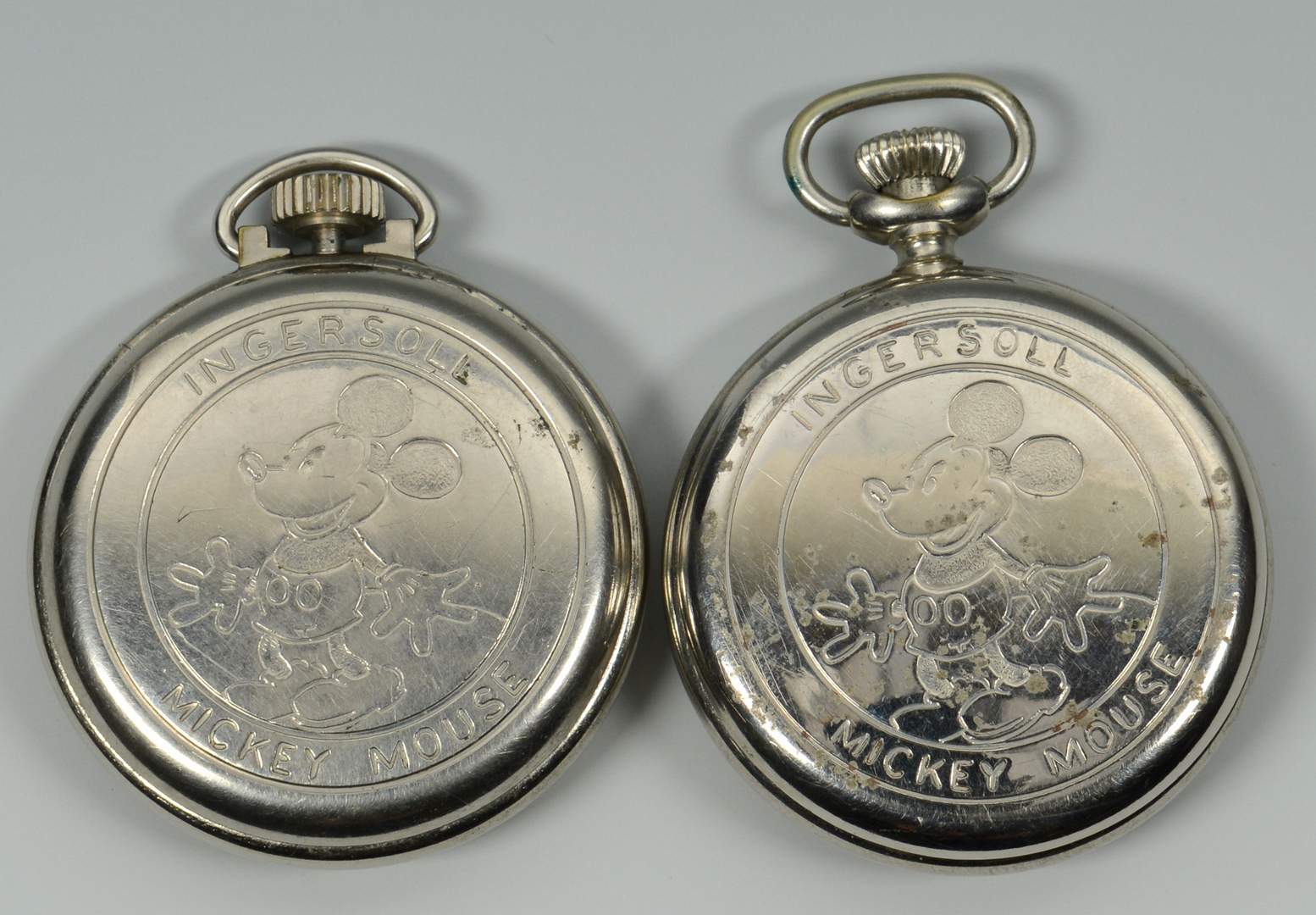 lot 3088316 2 mickey mouse ingersoll pocket watches mm fob