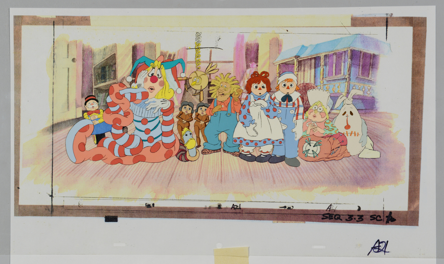 Lot 3088317: 2 Raggedy Ann & Andy Production Cels