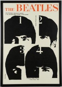 Lot 3088318: 1964 German Beatles Poster, A Hard Day's Night