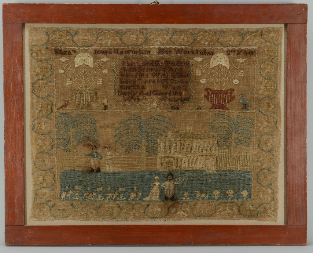 Lot 3088325: Pennsylvania pictorial Sampler circa 1815