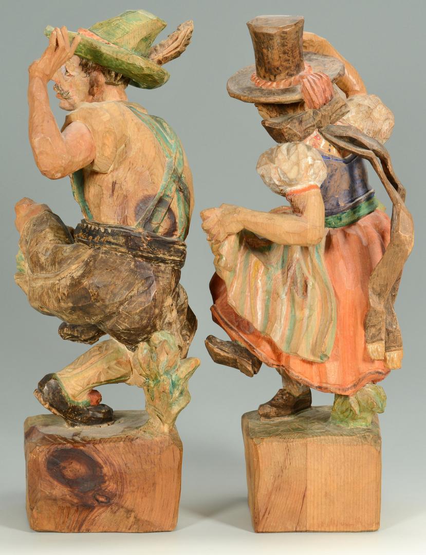 Lot 3088340: Pr. J. Adlhart Carved Wooden Austrian Figures