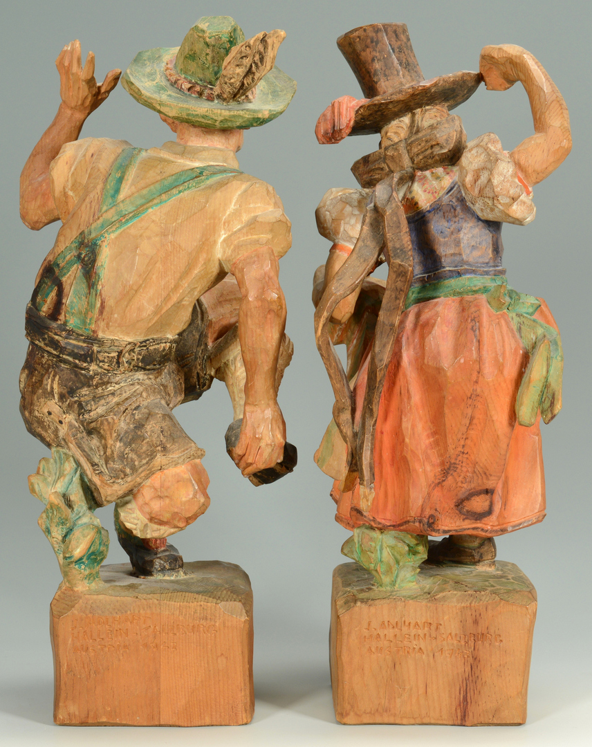 Lot 3088340: Pr. J. Adlhart Carved Wooden Austrian Figures