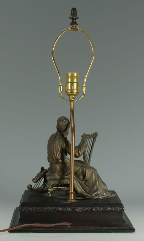 Lot 3088346: Spelter Female Figural Lamp Base