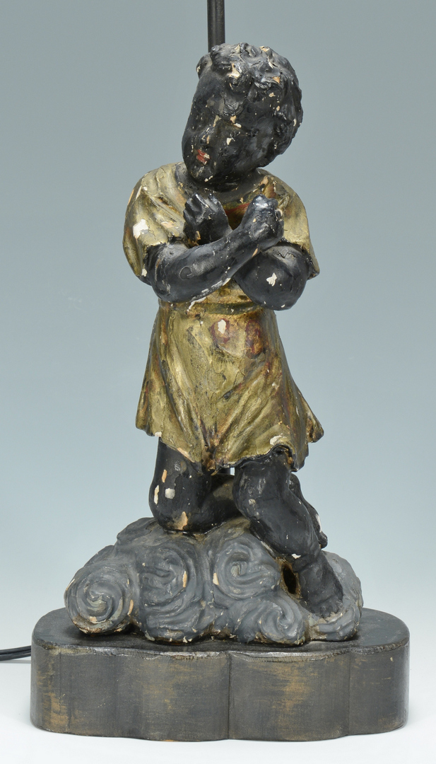 Lot 3088347: Blackamoor Lamp