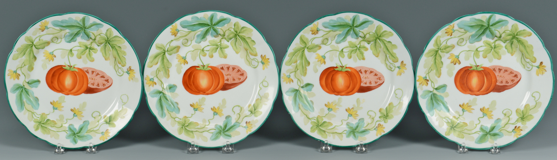 Lot 3088349: Minton Bamboo ware, Majolica fish pitcher & plates