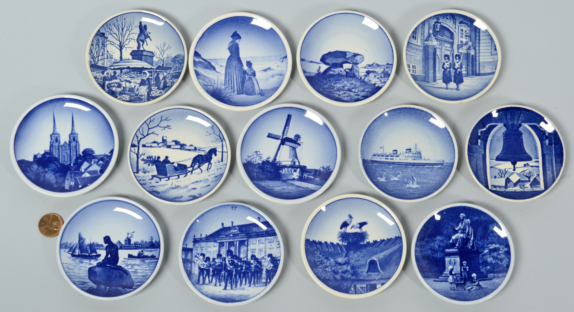 Lot 3088358: Danish and German Collectible Plates