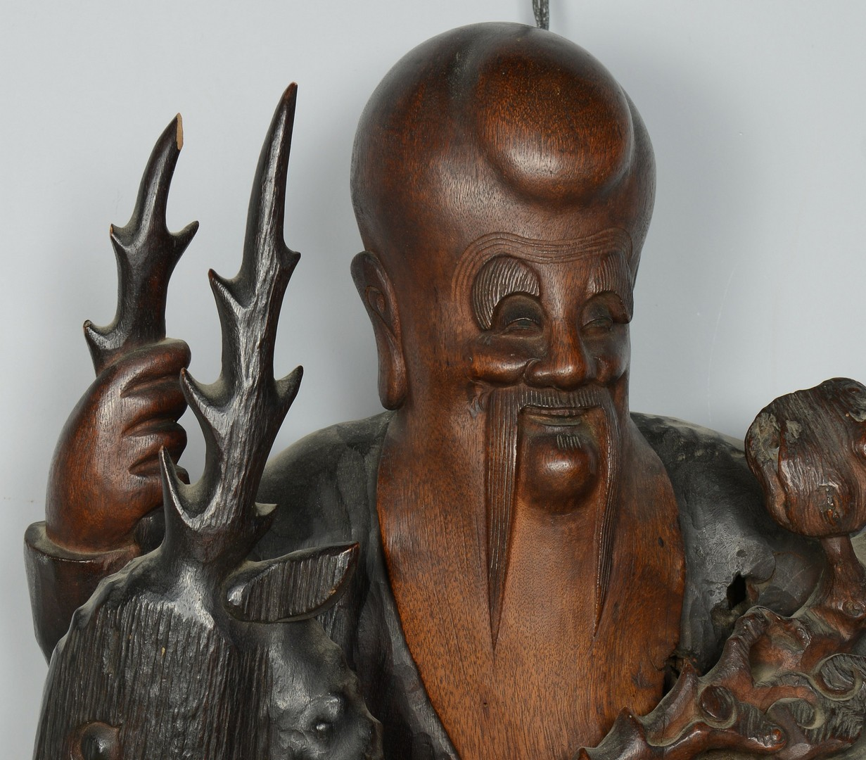 Lot 3383141: Large Carved Chinese Immortal