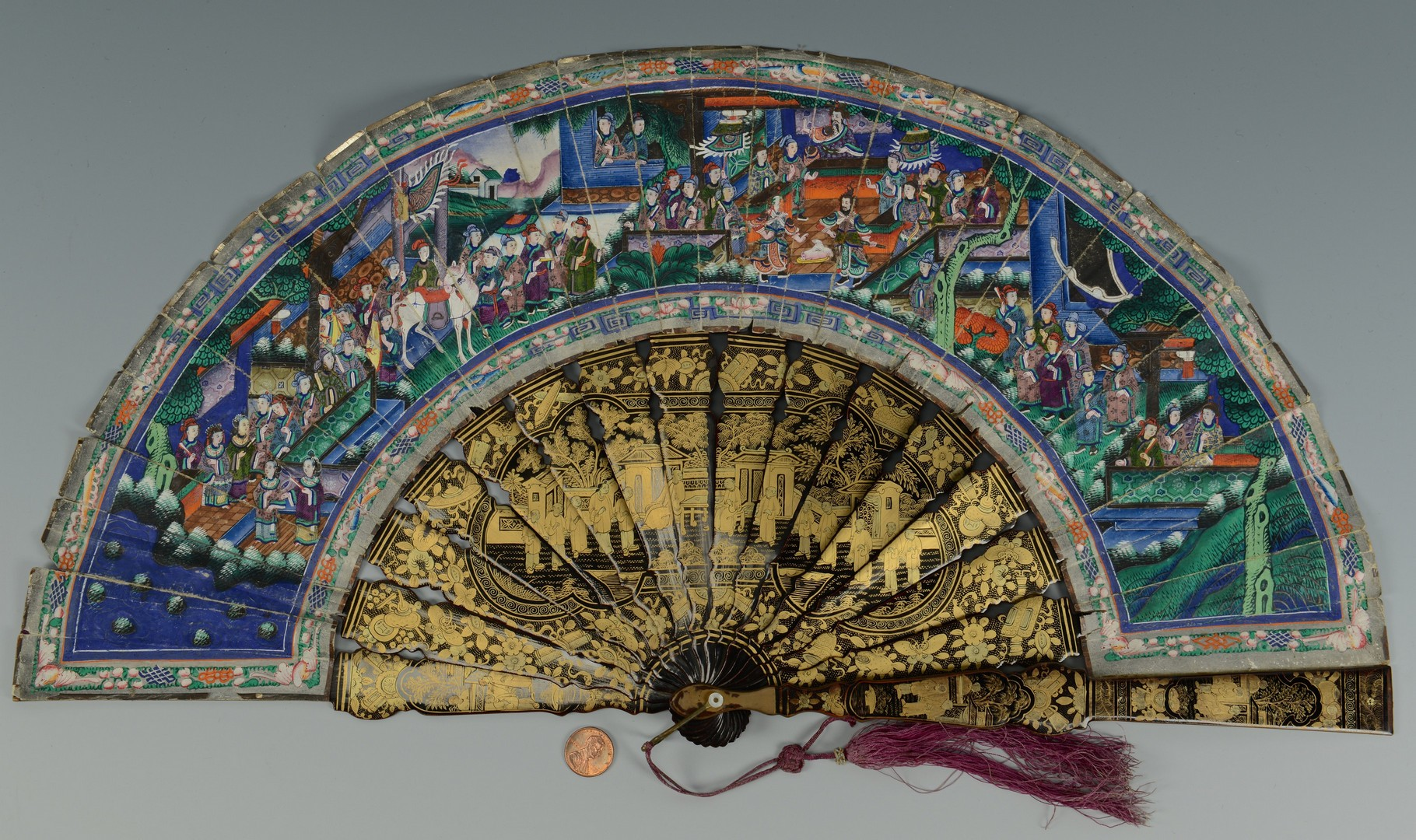 Lot 3383143: Chinese 1000 Face Fan