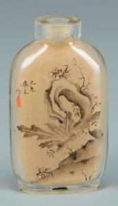 Lot 3383146: Signed Reverse Painted Quartz Snuff Bottle