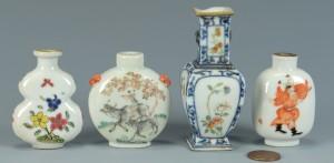 Lot 3383147: 3 Snuff Bottles inc. 1 Tao Kuang, plus Miniature V