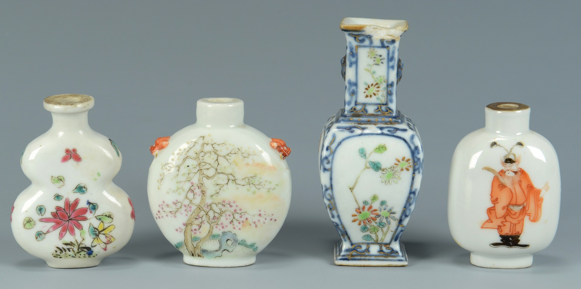 Lot 3383147: 3 Snuff Bottles inc. 1 Tao Kuang, plus Miniature V