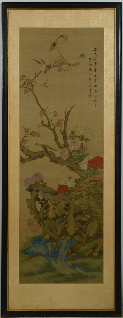 Lot 3383151: Chinese Scroll Painting w/ Birds
