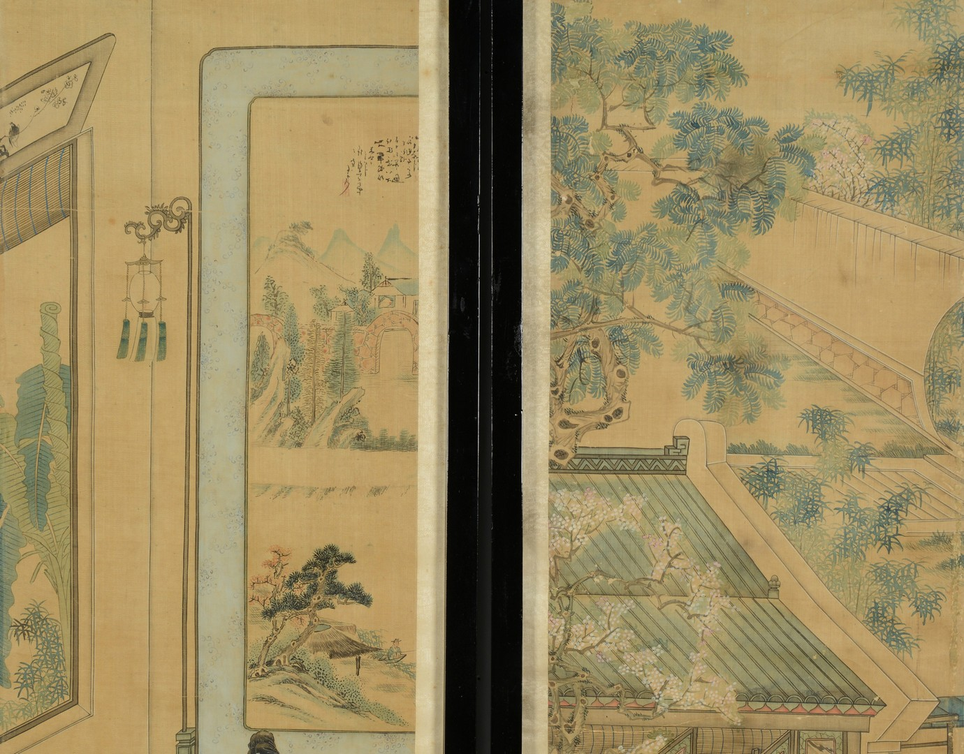 Lot 3383153: 4 early 20th c. Chinese Panels