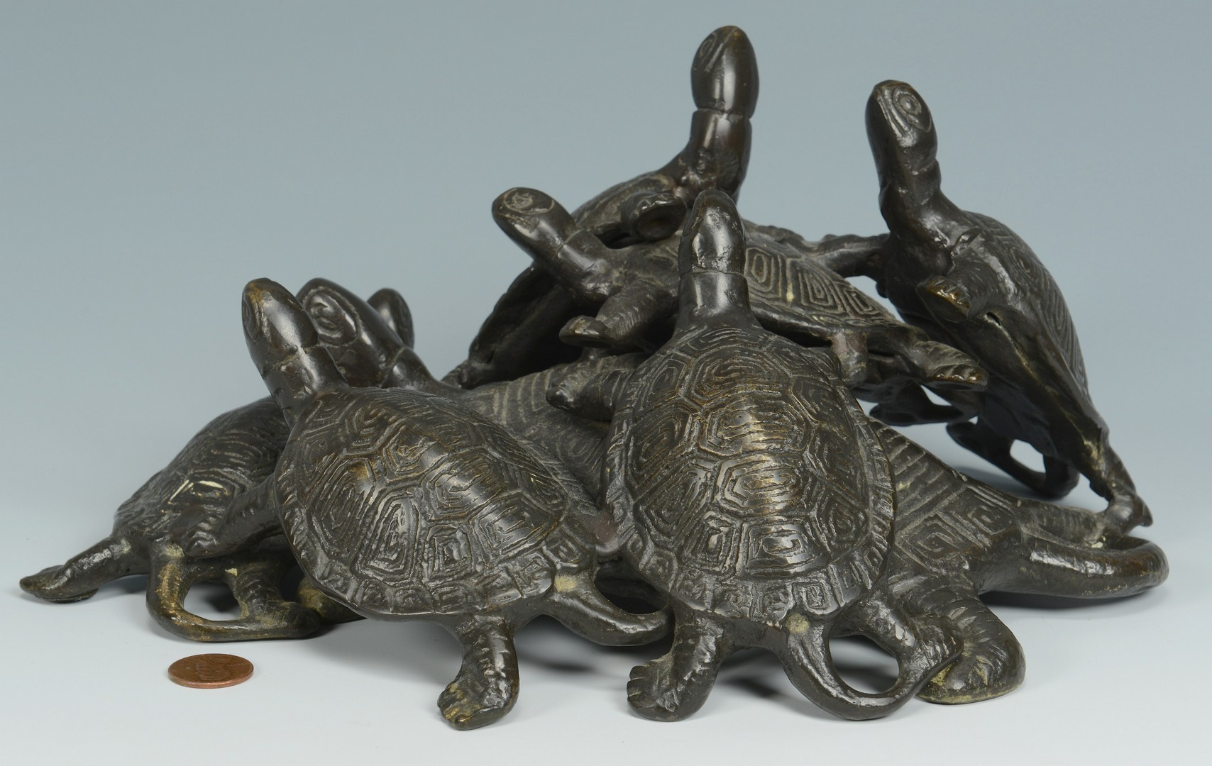 Lot 3383155: Bronze Turtle Group
