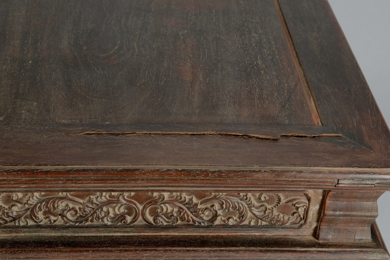 Lot 3383158: Chinese Carved Hardwood Side Table