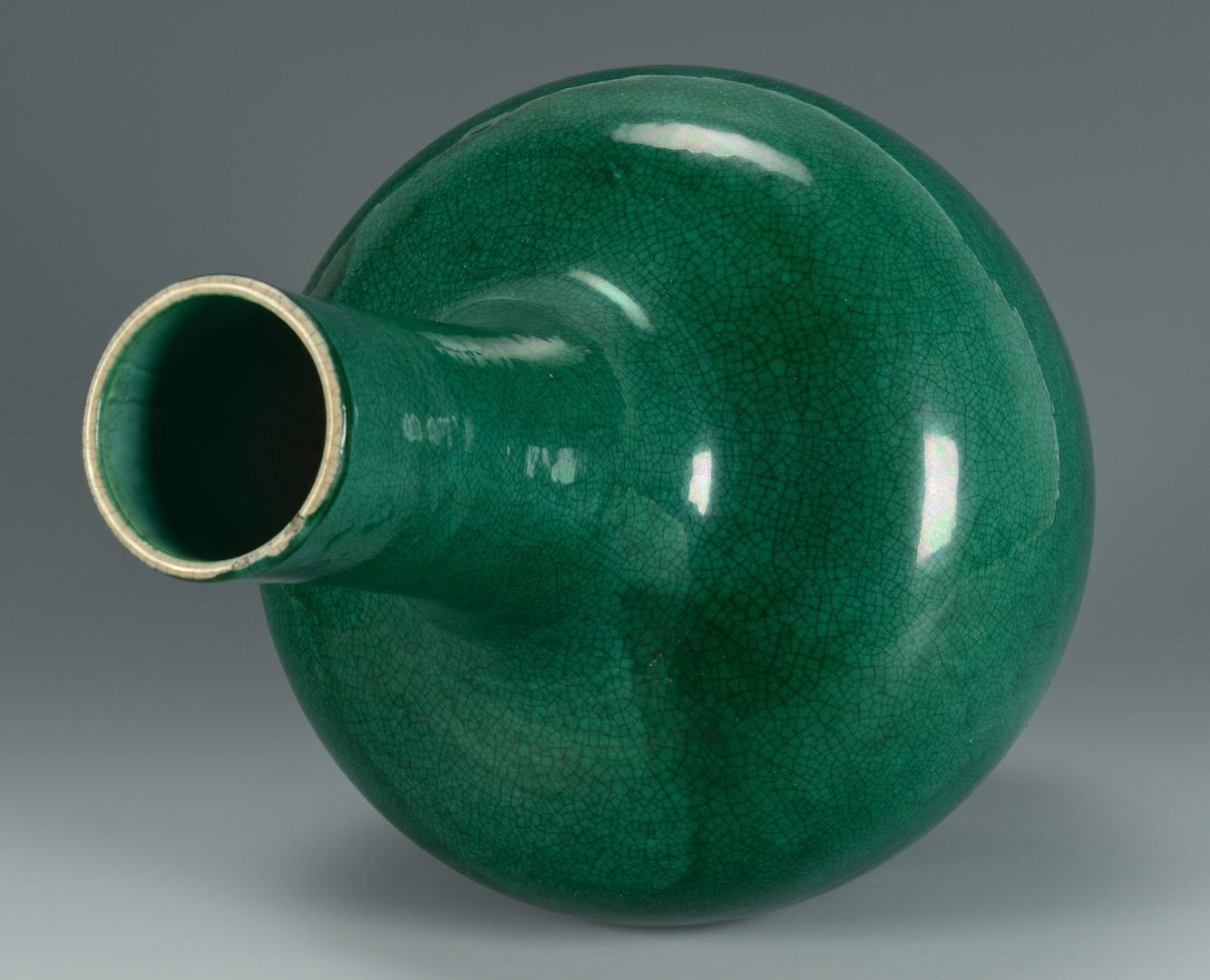 Lot 3383168: Large Chinese Green Porcelain Bottle Vase
