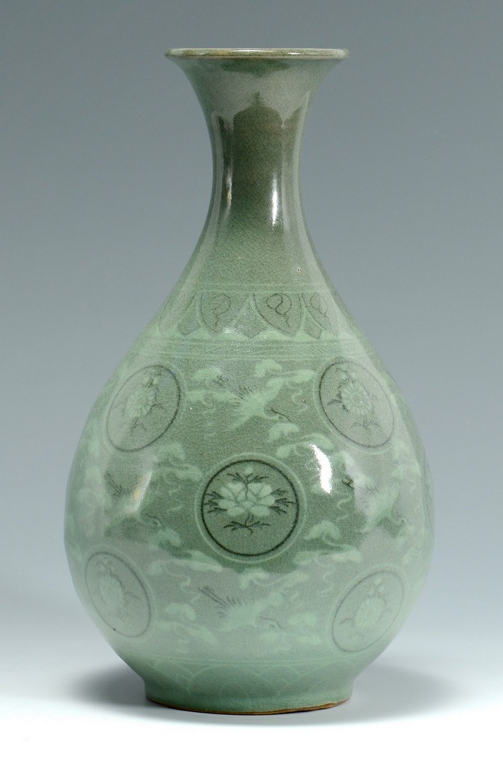 Lot 3383177: Korean Celadon Glazed Vase