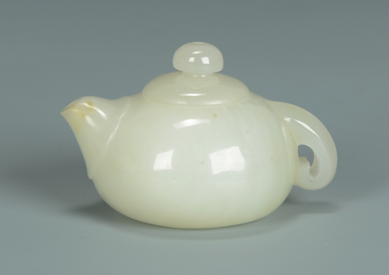 Lot 3383185: Chinese White Jade Tea Pot