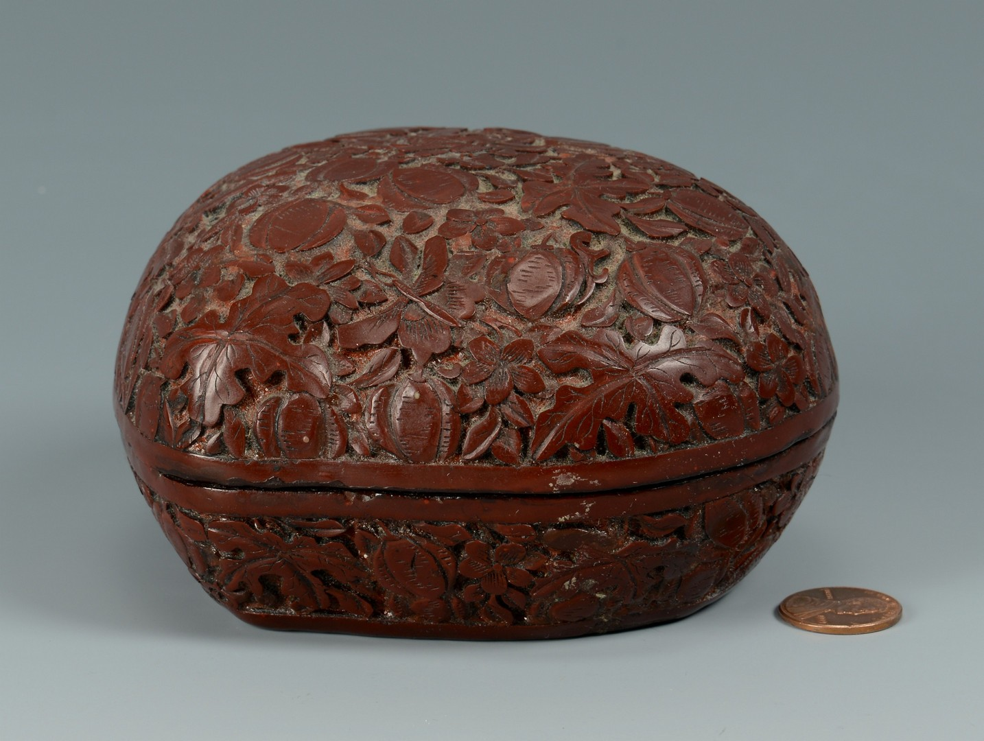 Lot 3383188: Chinese Shaped Cinnabar Box