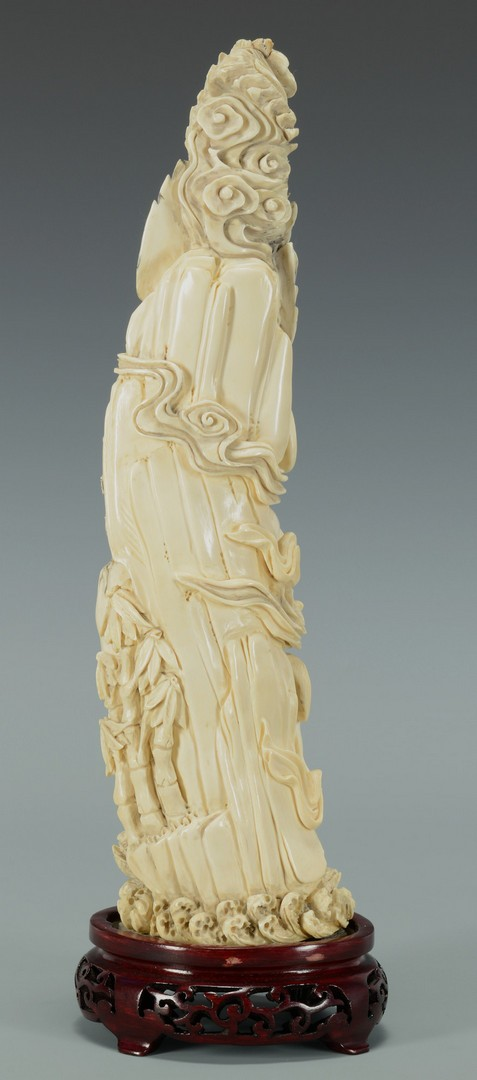 Lot 3383190: Chinese Figural Carved Ivory Immortal