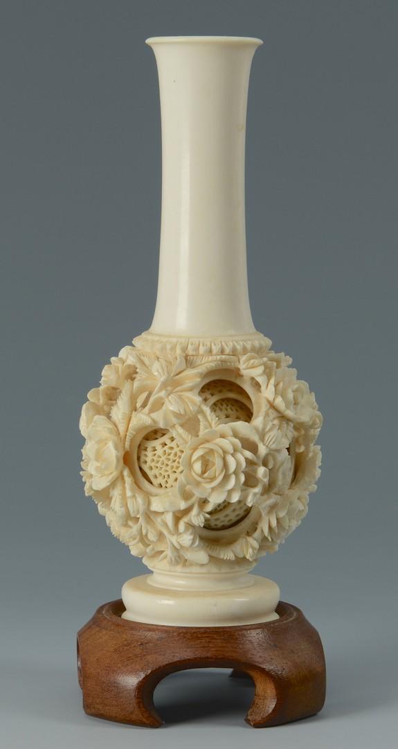 Lot 3383193: Chinese Ivory Puzzle Ball Vase