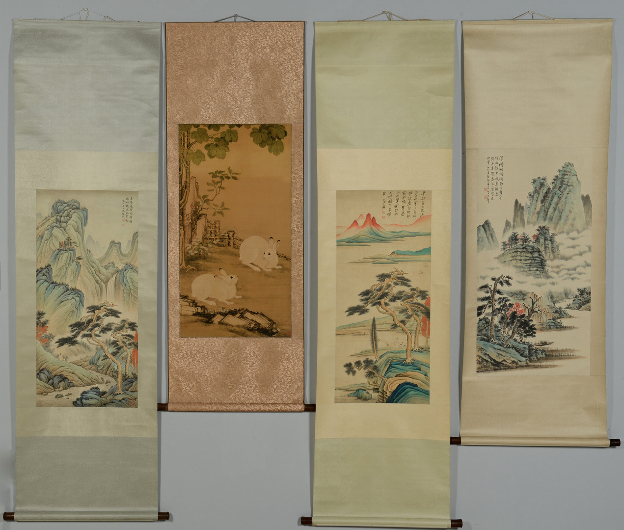 Antique Chinese Scrolls: Lot 3383212: 4 Chinese Scroll Paintings