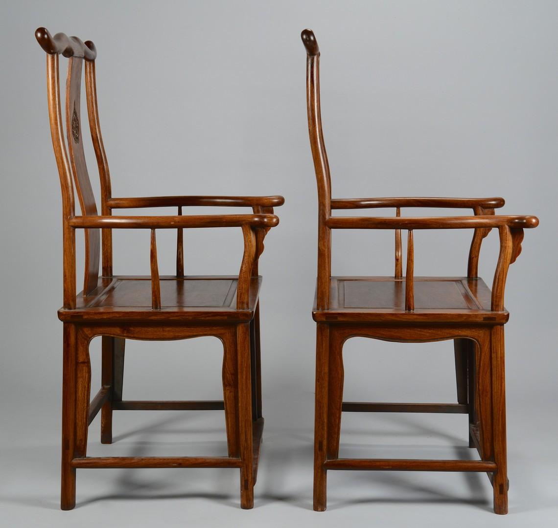 Lot 3383214: Pr Chinese Yoke Back Chairs
