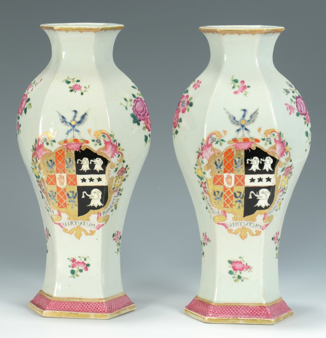 Lot 3383226: 7 Chinese Export Armorial Porcelain Items