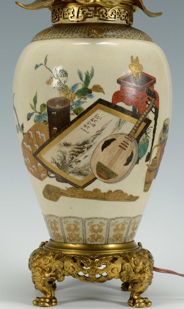 Lot 3383244: Asian Gilt Enameled Lamp