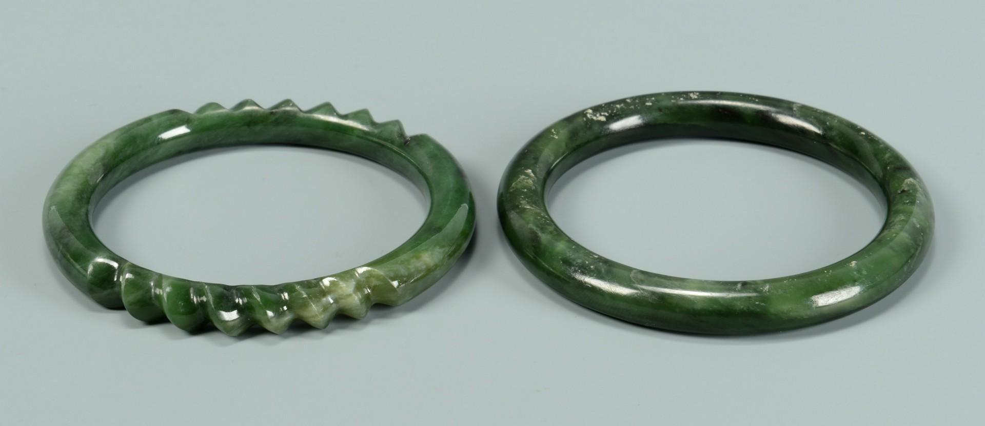 Lot 3383247: Two (2) Asian Jade Bracelets