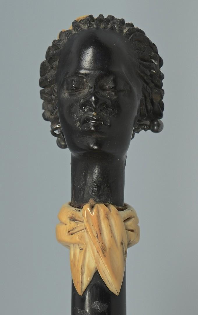 Lot 3383248: Cane, African Female Head w/ Ivory
