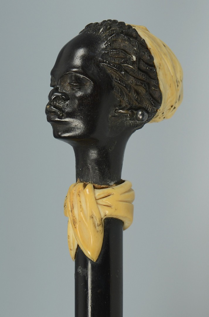 Lot 3383248: Cane, African Female Head w/ Ivory