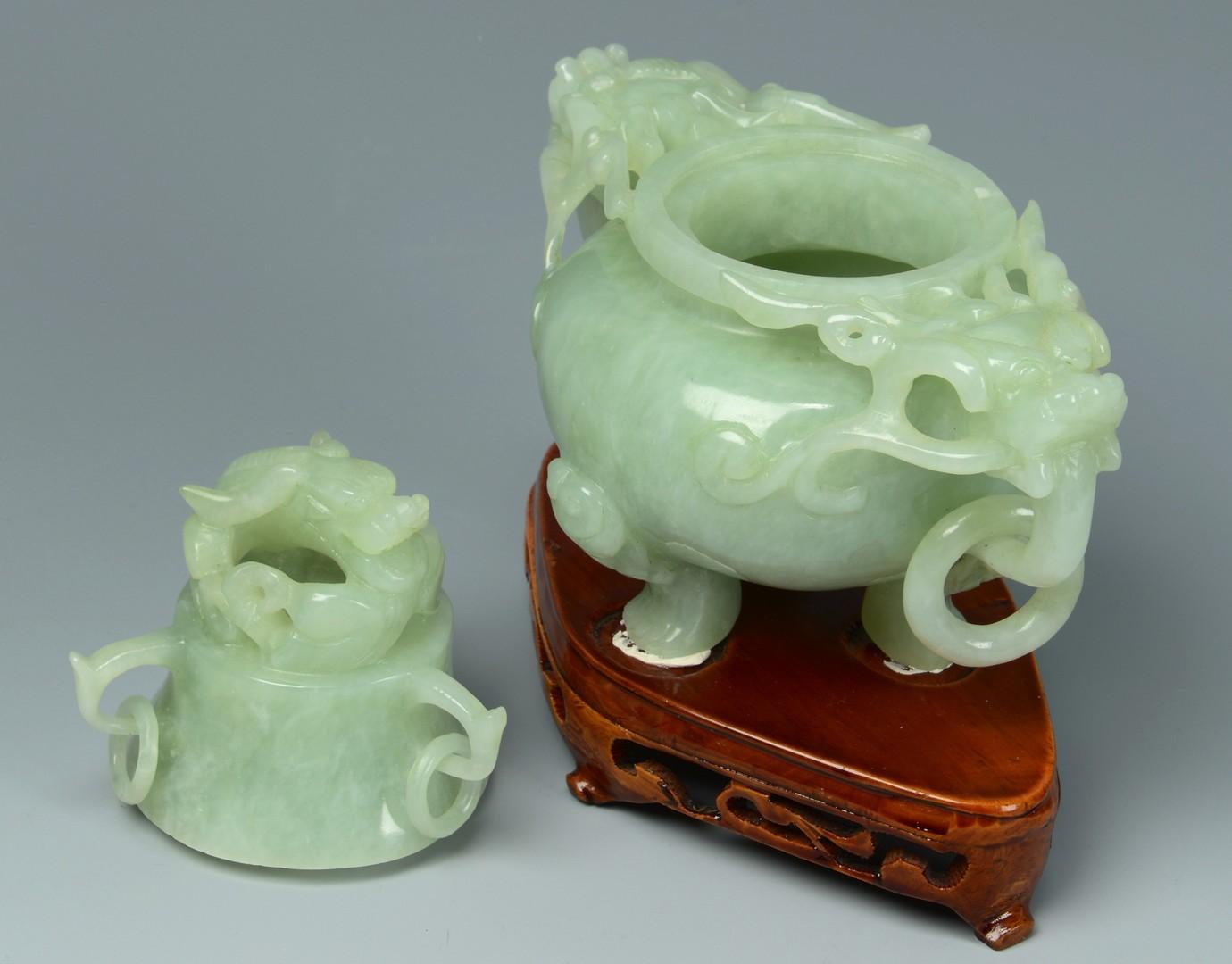Lot 3383251: Chinese Hardstone Censer, Elephants and Tree