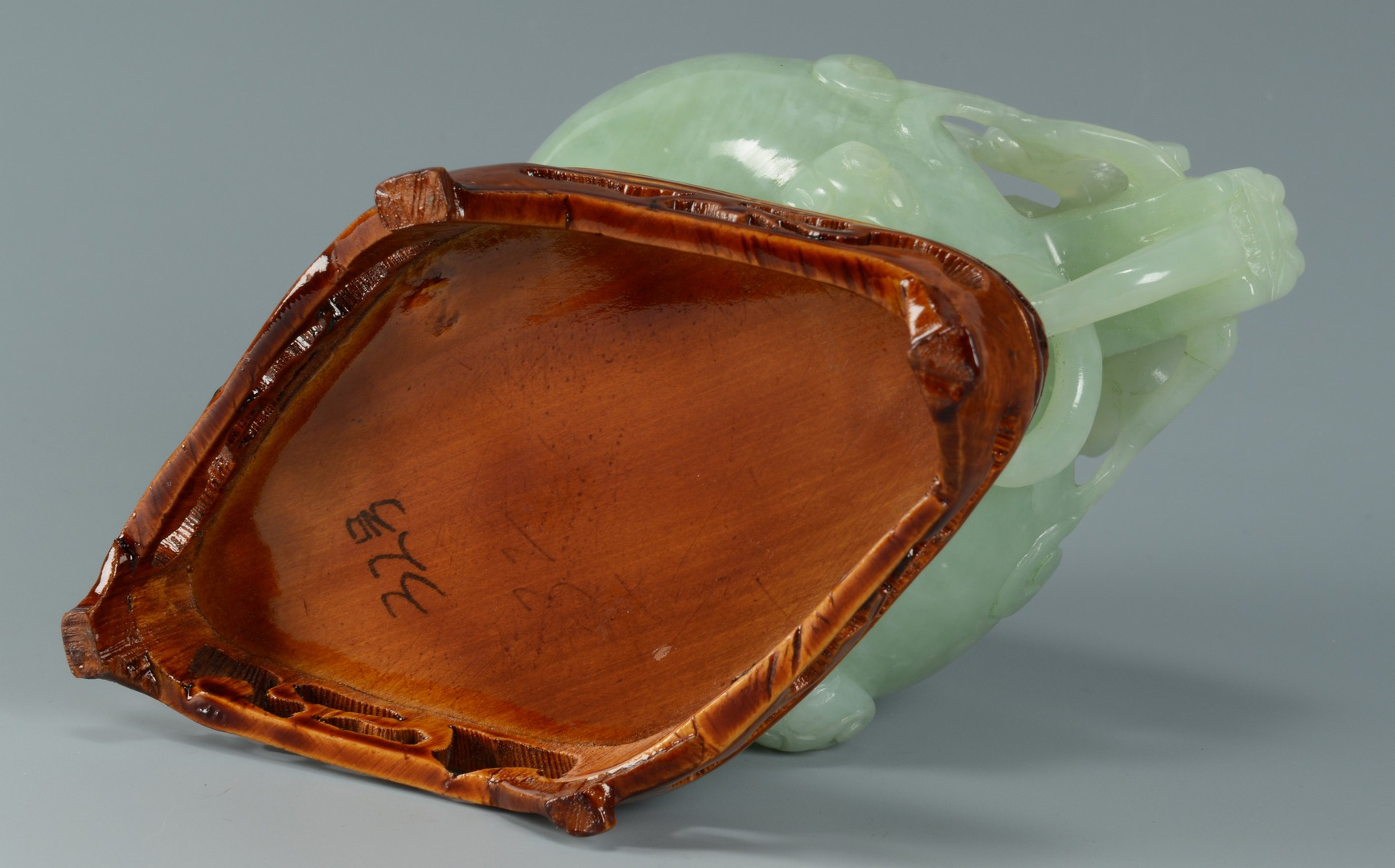 Lot 3383251: Chinese Hardstone Censer, Elephants and Tree