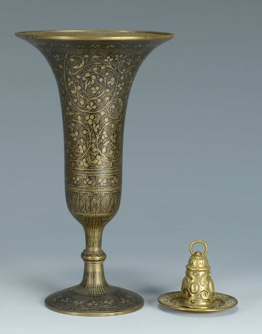 Lot 3383256: Asian and Middle Eastern Metalware Items inc. Chin