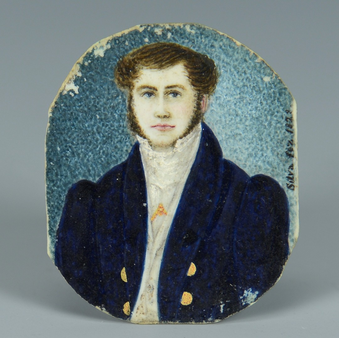 Lot 3383258: Miniature Portrait of a Gentleman