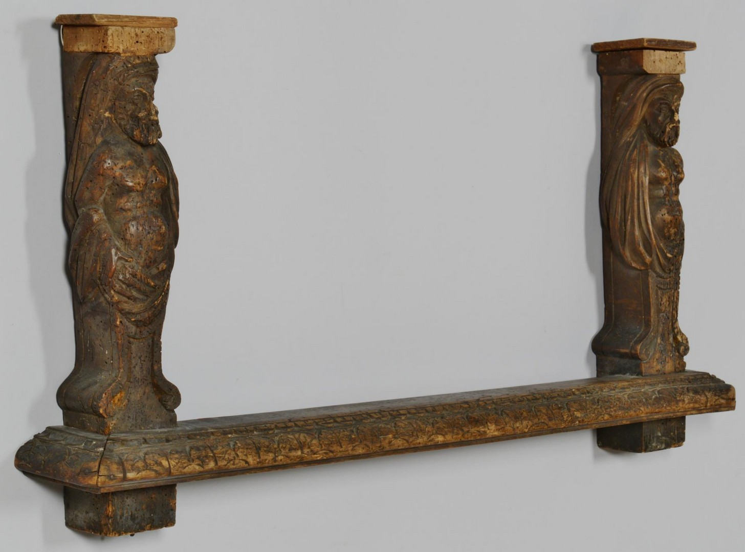 Lot 3383259: Baroque Style Carved Figural Shelf Support